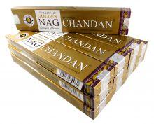 Vijayshree Räucherstäbchen Golden Nag Chandan 12 Packs a 15g