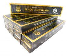 Räucherstäbchen Anand Black Nag Champa Big Pack 12 Packungen a 15g. Ca. 180 Incence Sticks