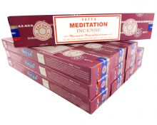 Satya Räucherstäbchen Meditation 12 Packs a 15g