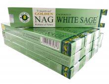 Vijayshree Räucherstäbchen Golden Nag California White Sage 12 Packs a 15g