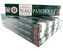 Vijayshree Räucherstäbchen Golden Nag Patchouli 12 Packs a 15g