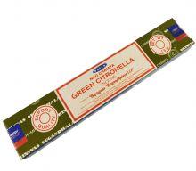 Räucherstäbchen Green Citronella von Satya 15g Packung. Ca. 15 Incence Sticks