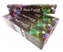 Satya Räucherstäbchen  Black Crystal 12 Packs a 15g