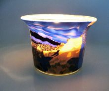 Teelichtglas Nordic Sunset, Höhe 4,8 cm